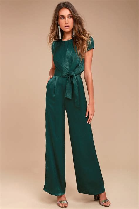 Chic Forest Green Jumpsuit - Knotted Jumpsuit