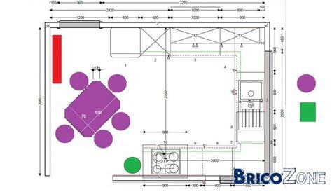 cuisine taille quelles dimensions pour une table de cuisine