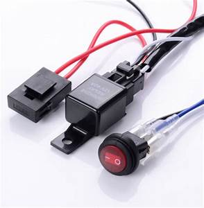 Led Work Fog Light Bar Wiring Harness Relay Kit On  Off