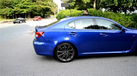 Blue Lexus Isf Arriving At Cars & Coffee