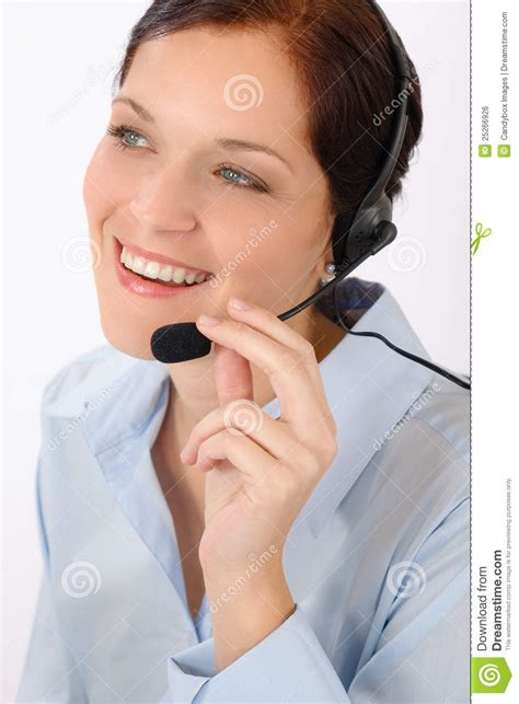 fda eric help desk friendly help desk woman smiling royalty free stock image