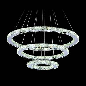 Diamond crystal ring led chandelier lamp modern