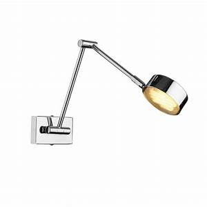 Led reading wall light cruise adjustable chrome led over for Floor mounted reading lamp