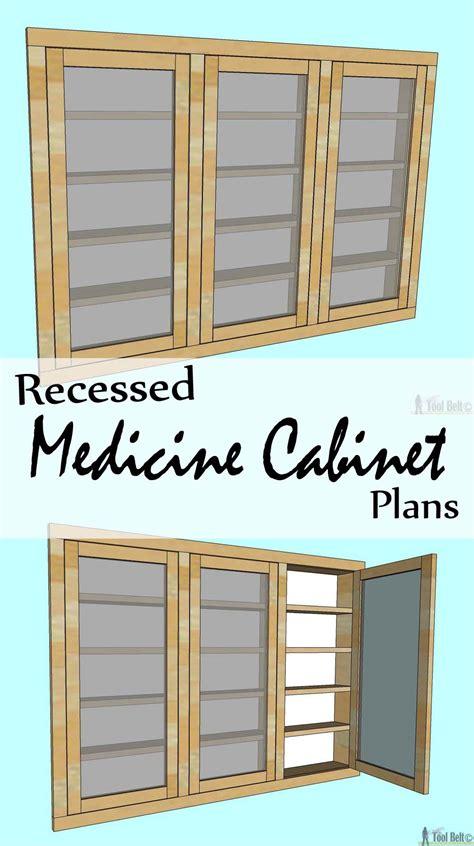recessed medicine cabinet  tool belt