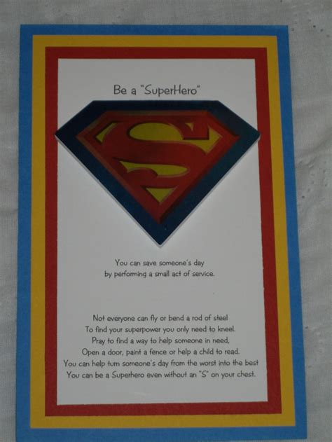 Random Acts of Kindness Superhero
