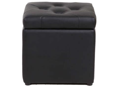 magasins canape pouf coffre 37x45 cm botai coloris noir vente de pouf