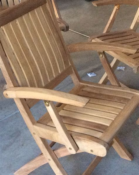 finishing teak deck chairs general yachting discussion