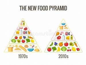 The New Food Pyramid Stock Vector  Illustration Of Eating