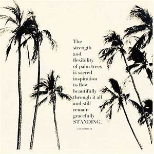 Beautifully fle... Inspiring Palm Tree Quotes