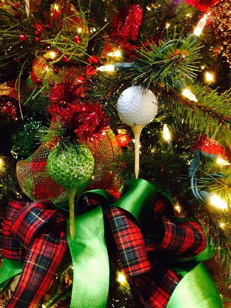 golf theme  christmas tree elegance golf theme