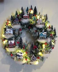 Best Christmas Village Display Tree Ideas And Images On Bing