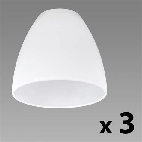 set of 3 frosted white glass replacement ceiling wall