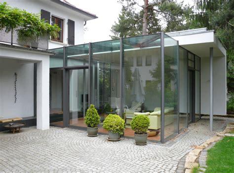 Einfamilienhaus Zweistoeckiger Wintergarten Mit Glasdecke by Haus N