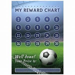 Football Reward Chart And Matching Stickers