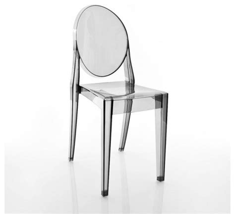 ghost chair set of 2 transparent smoke grey