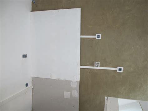 electricité cuisine semaine 8 peintures cuisine électricité ciment lissé