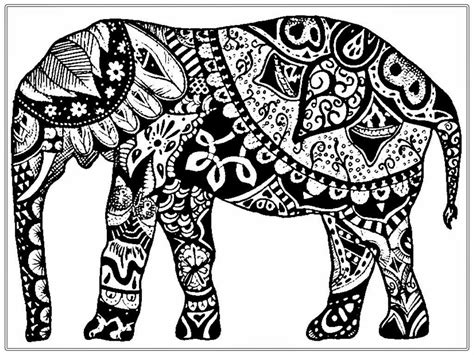 adult coloring pages free african elephant realistic