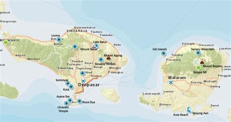 bali lombok indonesia travel map scuba diving resource