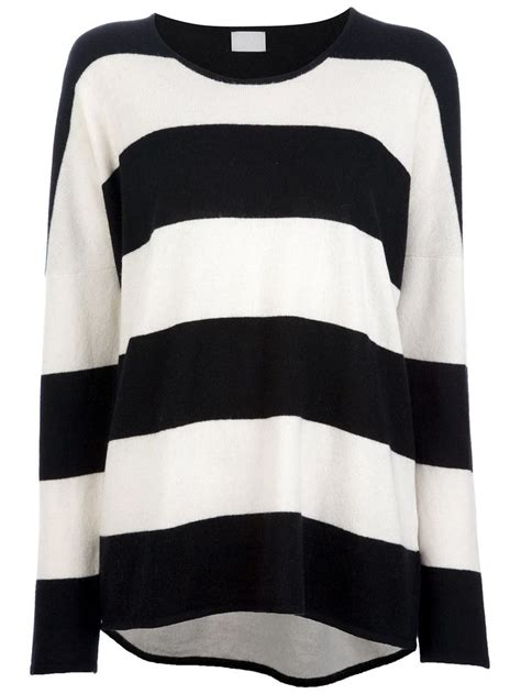 black and white striped sweater pin by warner on my style