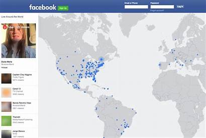 Map Around Interactive Fb Feature Drop Users
