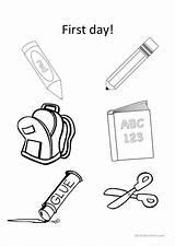 Classroom Objects Numbers Colors Worksheet Esl Worksheets Printable sketch template