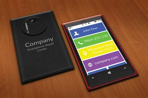 Smartphone Repair Center Business Card Template By