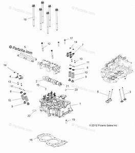 Polaris Atv 2015 Oem Parts Diagram For Engine  Cylinder