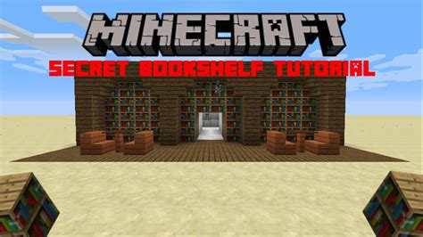 Minecraft Secret Bookcase Door by Secret Bookshelf Door Tutorial Minecraft Pc Xbox Psn