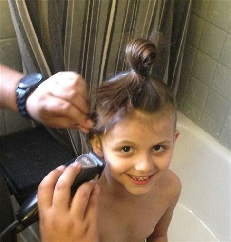 Mom Allows Six Year Old Daughter To Shave Her Head To Send A Message About Girls And Beauty