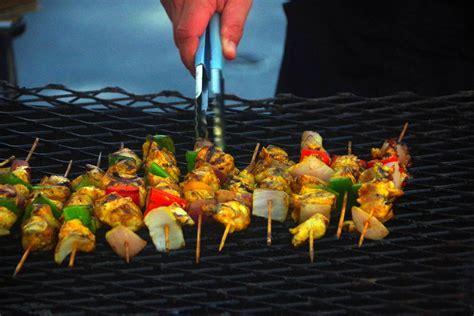barbeque kabobs food image  stock photo public
