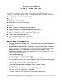 descriptions for resume office assistant skills list description