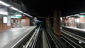 Hd  Lyon Metro D - Cab View - Avec  U00e9clairage    With Tunnel Lights On - V U00e9nissieux-vaise