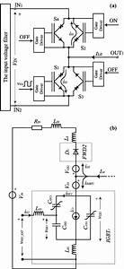 A  Commutation Leg And  B  Its Equivalent Circuit Diagram