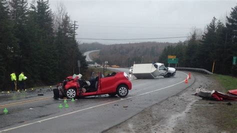 crash  nova scotias highway  sends   hospital