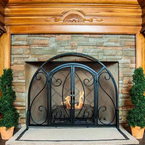 single panel fireplace screen with doors 1000 ideas about fireplace screens on glass