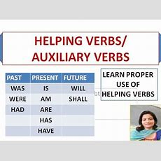 Use Of Auxiliary Verbs, Helping Verbs  What Is A Helping Verb And How To Use It In A Sentence