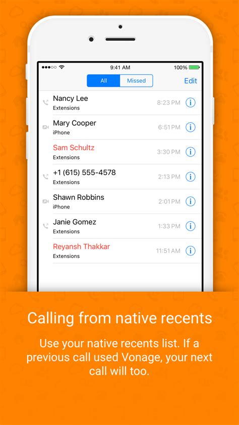 vonage extensions  home calls   iphone