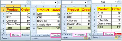 how to reference same cell from worksheets in excel