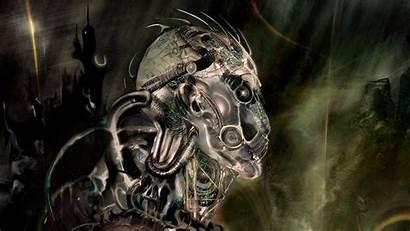 Fantasy Alien Head Dark Desktop Wallpapers Wallpaperxyz