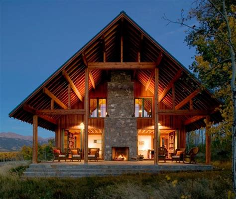 The Wood House Plan by Modern Ranch House In Colorado Beautiful Rustic Design