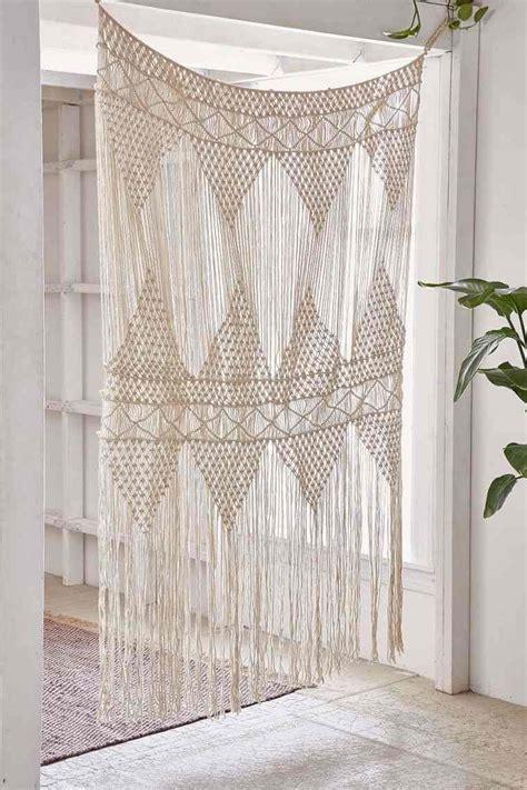 rideau macramé cuisine rideau exotique pour un décor boho chic ethnique ou naturel