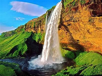 Waterfall Amazing Seljalandsfoss Nature Iceland 1600 Places