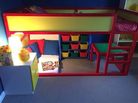 lego bedroom completed ikea kura bed hack milos room