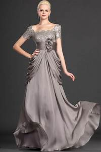 floor length a line long charcoal gorgeous chiffon lace With formal wedding dresses for mother of the bride