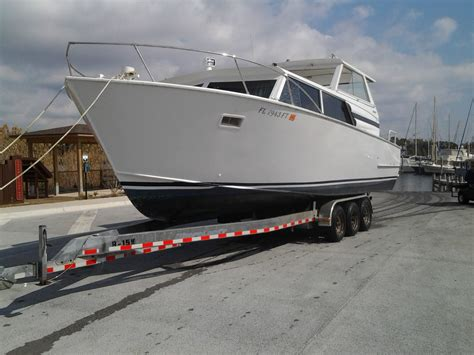 Used Welded Aluminum Boats For Sale In Florida by 32 Marinette All Welded Aluminum Express Cruiser With
