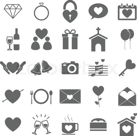 wedding icons  white background stock vector