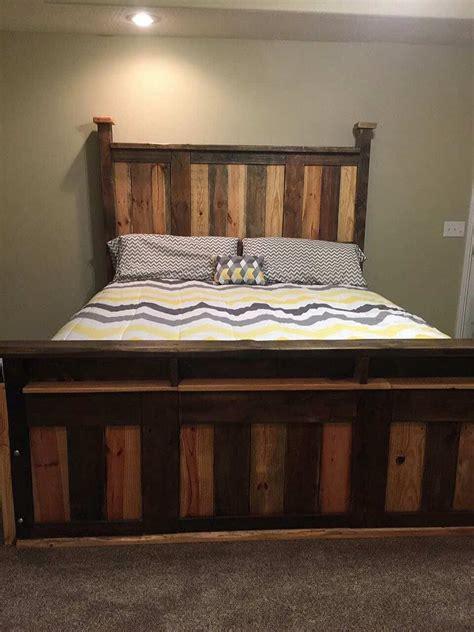 toned pallet king size bed frame  pallets