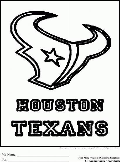 Coloring Nfl Helmet Houston Rockets Football Template