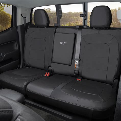 colorado protective rear fitted seat cover black crew cab warm