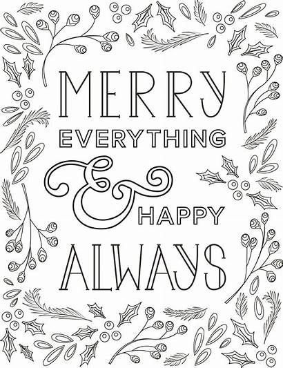 Happy Merry Printable Holiday Thredup Everything Always